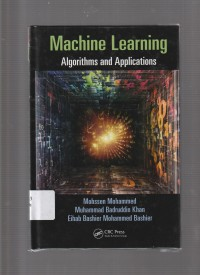 Image of Machine Learning : Algorithms and Applications